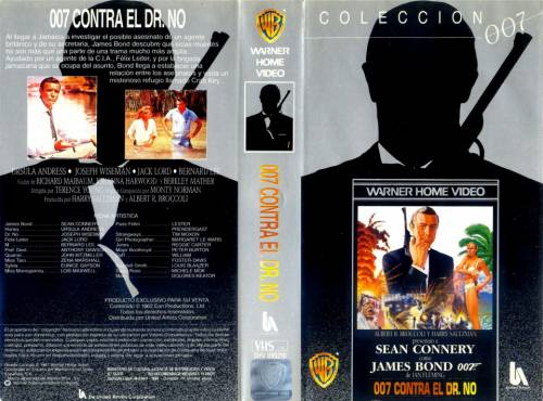 Agente 007 contra el Dr. No (1962) director: Terence Young | VHS | Warner Home Video (spain)