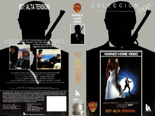 007 : Alta Tensión (1987) director: John Glen | VHS | Warner Home Video (spain)