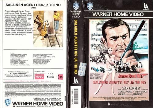 Salainen agentti 007 ja tohtori No (1962) director: Terence Young   VHS   ScanVideo, Oy Musiikki Fazer Ab (finland)