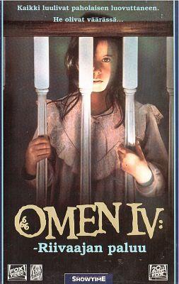 Omen IV - riivaajan paluu (1991) director: Jorge Montesi | VHS | Showtime (finland)