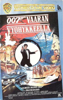 007 Vaaran vyöhykkeellä (1987) director: John Glen | VHS | FazerVideo, Fazer Musiikki Oy (finland)