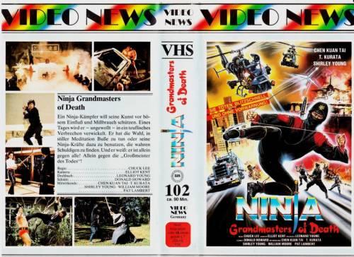 Ninja Grandmasters of Death (1983) director: Tso Nam Lee | VHS | Video News (germany)