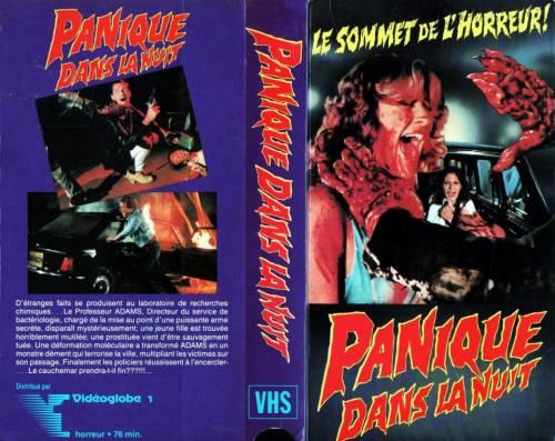 Panique dans la Nuit (1982) director: Tonino Ricci | VHS | Vidéoglobe 1 (canada)