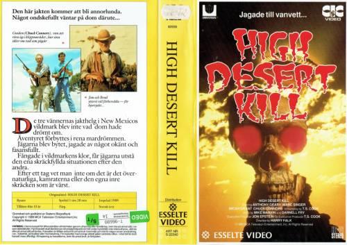 High Desert Kill (1989) director: Harry Falk | VHS | Esselte Video / CIC Video (sweden)