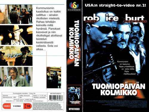 Tuomiopäivän kolmikko (1997) director: Albert Pyun | VHS | Scanbox (finland)