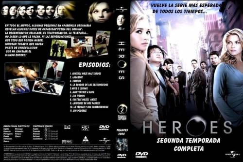 Heroes Segunda Temporadas Completas (2006) director: Greg Beeman | VHS | Universal (spain)