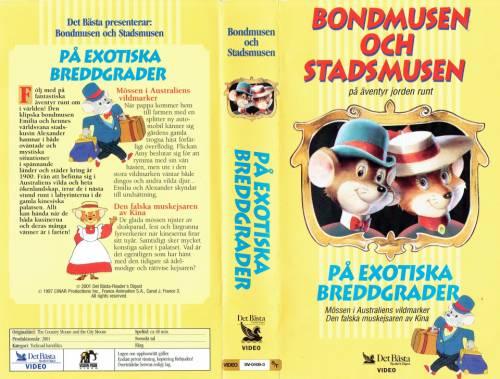 Bondmusen och Stadsmusen på exotiska breddgrader (1997) director: Marcos Da Silva | VHS | Oy Valitut Palat - Reader's Digest Ab (finland)