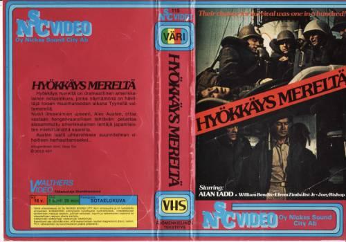 Hyökkäys mereltä (1958) director: Rudolph Maté | VHS | Nickes Sound City (finland)
