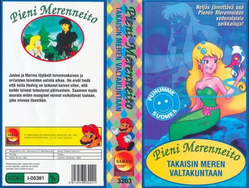 Pieni Merenneito: Takaisin meren valtakuntaan (1991) director: Tadayuki Uda | VHS | Screenet (finland)