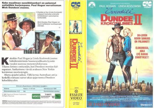 Crocodile Dundee Ii Krokotiilimies 1988 Director John Cornell Vhs Esselte Video Cic Video Finland Videospace