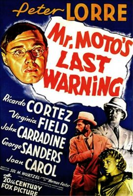 Mr. Moto's Last Warning (1939), Peter Lorre crime movie